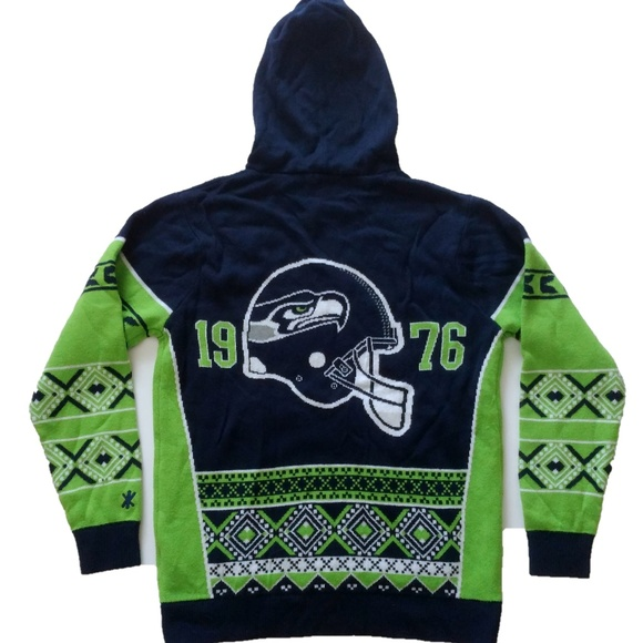 seattle seahawks ugly christmas sweater hoodie - Seahawks Christmas Sweater